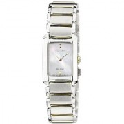 Citizen Silver Stainless Steel Round Dial Analog Watch For Women (EG2975-50D)