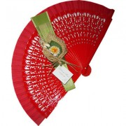 Decorated Wedding Fans - Assorted Bright Colours (Gardenia)