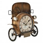 Стенен часовник [en.casa]® Стар автомобил - с аналогови стрелки - 33 x 13 x 36 см - цветен - стъкло