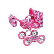 Knorrtoys Knorr Toys Knorr63196 Combi Ruby Pink Zigzag Dolls Pram and Buggy