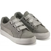 DeVEE Heart Bossom 2.0 Low top Light Grey Sneakers For Women(Grey)