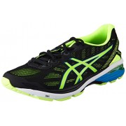 Asics Men's GT-1000 5 Black, Safety Yellow and Blue Jewel Running Shoes - 9 UK/India (44 EU)(10 US)