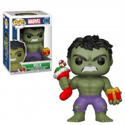 Pop! Vinyl Marvel Holiday - Figura Pop! Vinyl Hulk con Calza e Regalo
