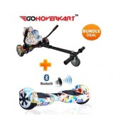 "Hoverkart & 6.5"" Bluetooth Hoverboard All Graffiti Go Racer Bundle"