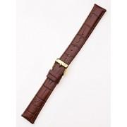Curea de ceas Perigaum Lederband 20 x 185 mm braun goldene Schliesse