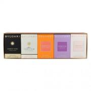 Bvlgari Mini Set 5X5Ml 5X5Ml Edt Omnia Crystalline + Edt Omnia Indian Garnet + Edt Mon Jasmin Noir L´Exquise + Edp Jasmin Noir + Edt Omnia Amethyste Per Donna(Eau De Toilette)