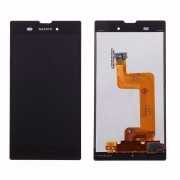 Display LCD touch p/ Sony Xperia T3 D5102 preto c/frame
