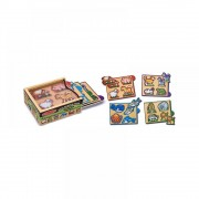 Cutie cu minipuzzle Animale, Melissa and Doug, MD4790, 16.5 x 12 x 5 cm
