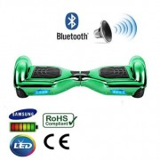 "6.5"" Green Chrome Bluetooth Segway Hoverboard"