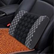 Four Season chemische vezel inwikkeling lumbale ontspanning taille ondersteuning zitkussen voor auto Office-familie (wit)