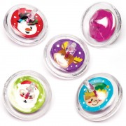 Christmas Character Spinning Tops - 8 Forever Spinning Top Toys In 4 Designs. Kids Stocking Fillers. Size 5cm.