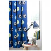 Catherine Lansfield Football Curtains - Blue - 168 x 183cm