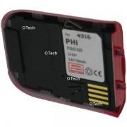 Otech Batterie de téléphone portable pour PHILIPS FISIO 820 / 822 / 825 red Li-ion 700 / 800mAh