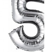 Crazy Sutra Five Number Foil Toy Balloon silver