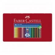 Creioane colorate 36 culori/set FABER-CASTELL Grip 2001, cutie metal, FC112435
