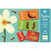 Puzzle duo numere Djeco