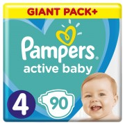 Pampers pelene Active Baby 4 Maxi, 90 kom