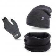 Komplet męski PaMaMi - czapka, komin i rękawiczki
