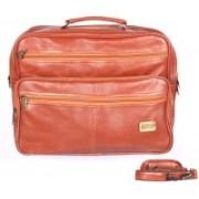 HANDCUFFS Leather Office Bag 16 Inch Laptop Bag For Men - Rust Tan Messenger Bag