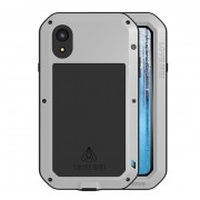 LOVE MEI Shockproof Splash-proof Dust-proof Defender Protection Phone Casing for iPhone XR 6.1 inch - Silver