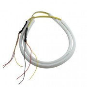 Set 2 tuburi flexibile led DRL tip neon pentru masina sau moto cu lumini de zi si semnalizare dimensiune 45 cm - Phuture R