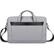 Let op type!! DJ06 Oxford Cloth Waterproof Wear-resistant Portable Expandable Laptop Bag for 15.6 inch Laptops with Detachable Shoulder Strap(Grey)