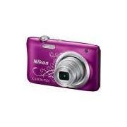 Câmera Digital Nikon Coolpix A100 Display 2.7 20.1mp Lente Nikkor Zoom 5x - Roxo
