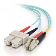 C2G 85531 1m LC SC Turquoise fiber optic cable