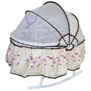 Balansoar pentru nou nascuti, cu protectie impotriva insectelor
