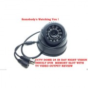 High Quality Dome CCTV Camera With 32GB Card Support Night View Play Back With Free TV Out Cable For Viewing