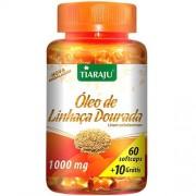 Óleo de Linhaça Dourada Softcaps 1000 mg - 60 Cápsulas Softgel + 10 Grátis - Tiaraju