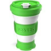 POKITO Összehajtható kávésbögre 3 az 1-ben limezöld