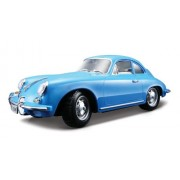 Bburago 2011 Gold 1:18 Scale Blue Porsche 356B Coupe (1961)