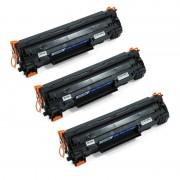 Zipzap CE278A Pack 3 Tóners Compatibles HP Negro