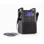 KA8B-V2 BK Impianto Karaoke Lettore CD AUX 2 x Microfoni 3 x Karaoke CD+G