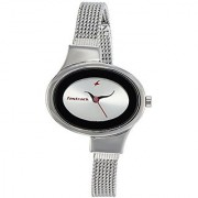 Fastrack Analog Silver Dial Womens Watch-6015SM01