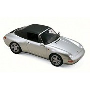 1993 Porsche 911 Carrera Cabriolet Convertible, Silver - NOREV 187592 - 1/18 Scale Diecast Model Toy Car