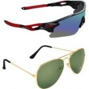 Zyaden Sports, Aviator Sunglasses(Multicolor, Green)