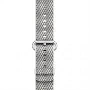 Apple Watch 42mm White Check Woven Nylon