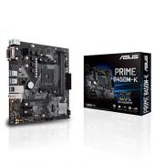 Asus Prime B450M-K Moederbord Socket AM4 (mATX, AMD AM4, DDR4-geheugen, originele M.2, USB 3.1 Gen 2)