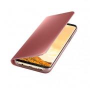 Samsung Clear View Stand Cover EF-ZG955CPEGWW - оригинален кейс с поставка, през който виждате информация от дисплея за Samsung Galaxy S8 Plus (розов)