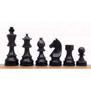 Piese de șah lemn GERMAN Staunton 6 (ebonised)