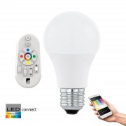 Eglo Connect LED Lamp 9W E27, White and Color, met afstandsbediening