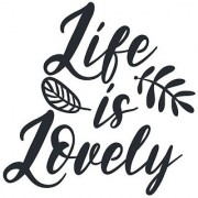 life is lovely poster|valentine poste|love birds poster|poster for lovers|size(12x18 inch) wall sticker poster