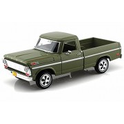 1969 Ford F-100 Pickup, Green - Motormax Premium American 79315 - 1/24 Scale Diecast Model Car