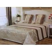 3 részes ágytakaró 200x220 cm elegáns arany - pezsgőszínű mintával