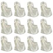 vidaXL 12 db krémszínű esküvői/bankett székszoknya