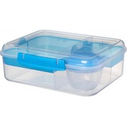 Sistema To Go Bento lunchbox - 4 compartimenten - 1.65 l - transparant