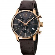 Calvin Klein City Chronograph Montre K2G276G3 - Marron