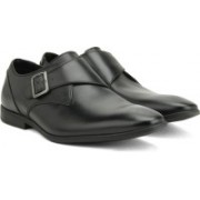 Clarks Bampton Work Black Leather Slip On For Men(Black)